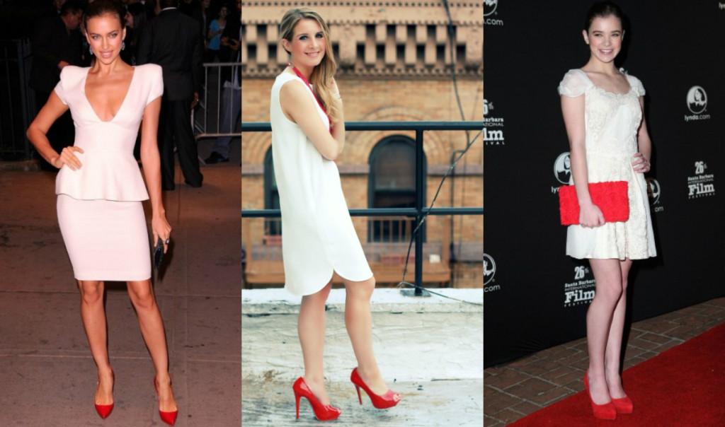 e1af4cdfc21 krasnye-tufly-i-beloye-platye. — повседневный наряд освежат красные туфли  ...