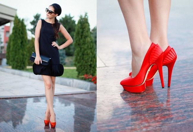 90eb2126707 Под какой наряд лучше надевать красные туфли