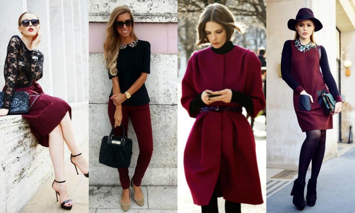 Бордовый цвет в одежде психология