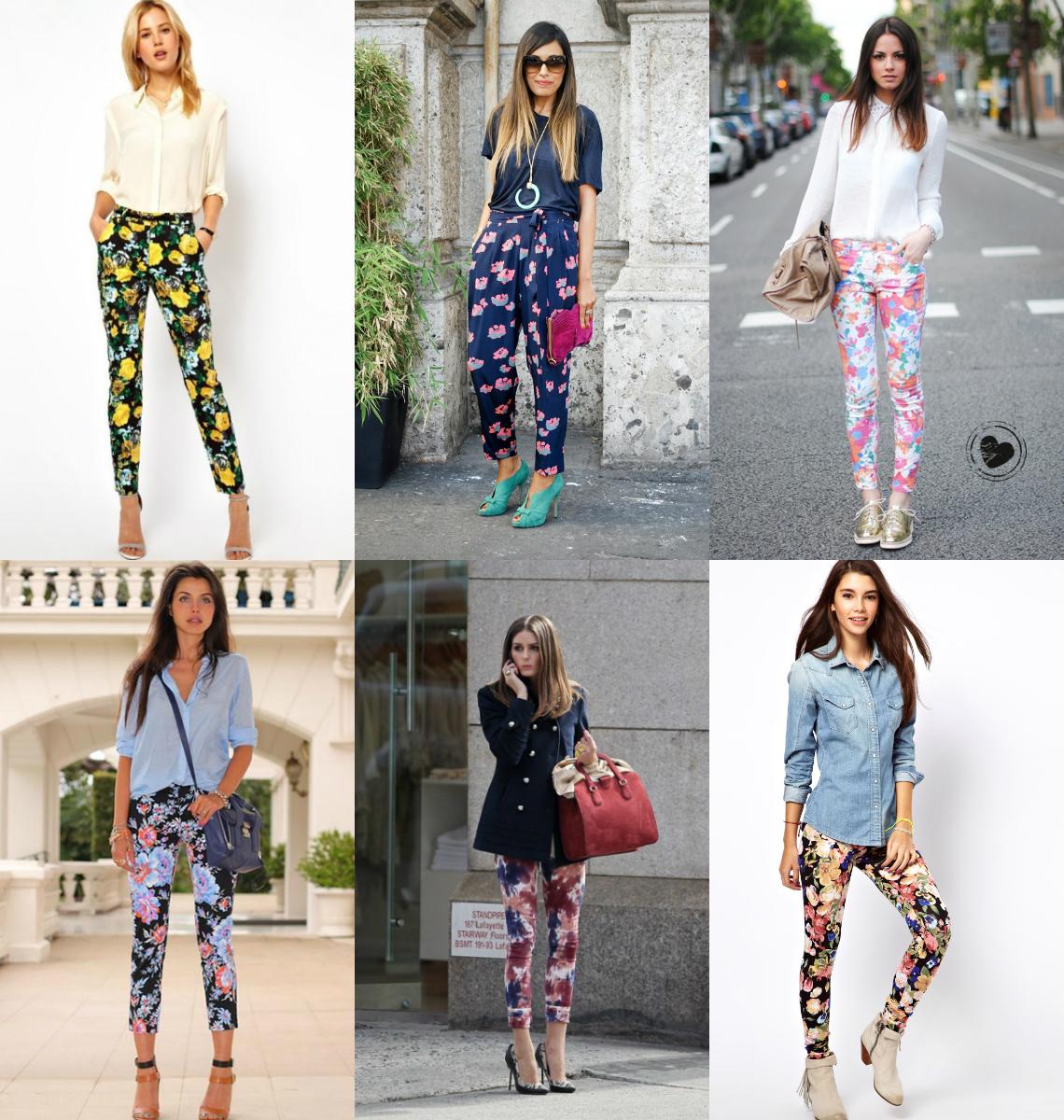 Что носить со штанами с цветами