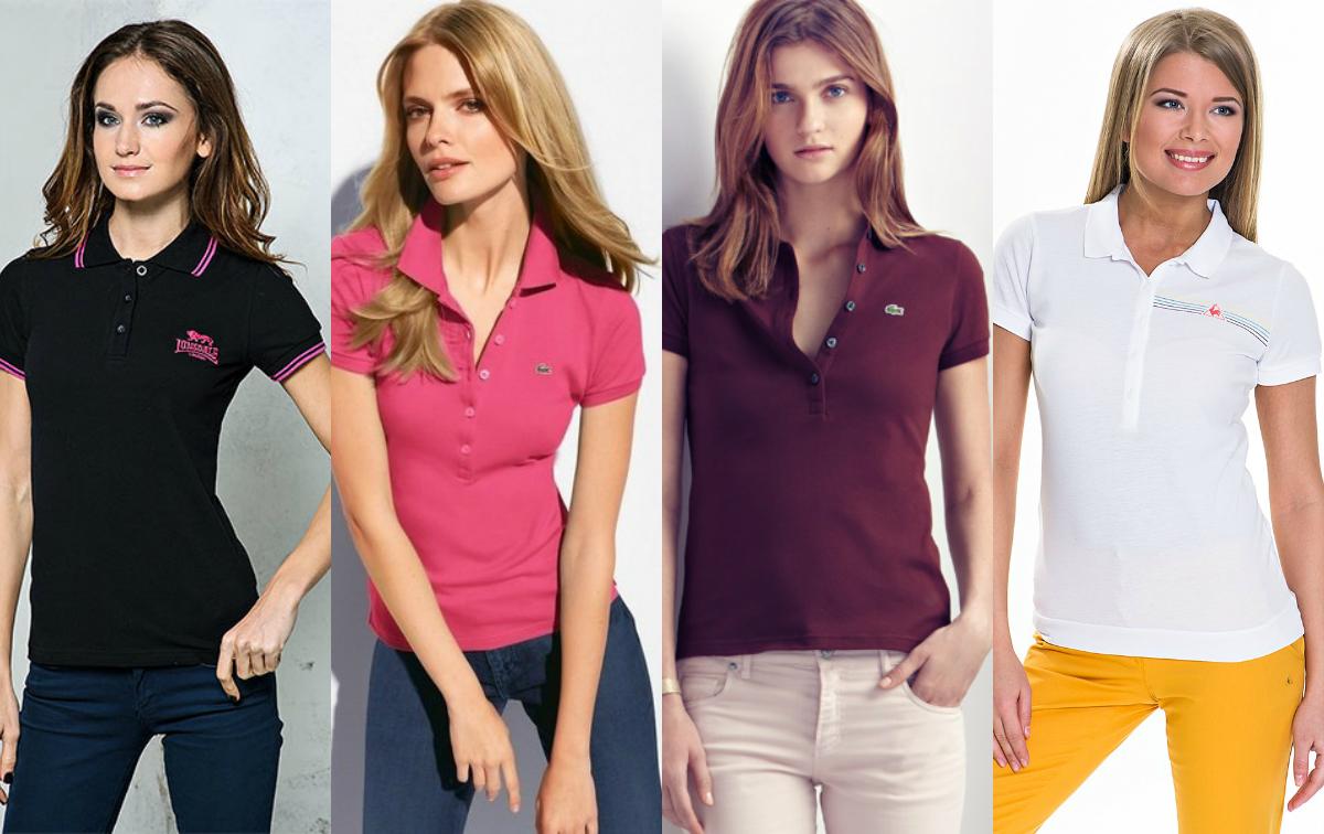 Поло футболка женская с чем носить