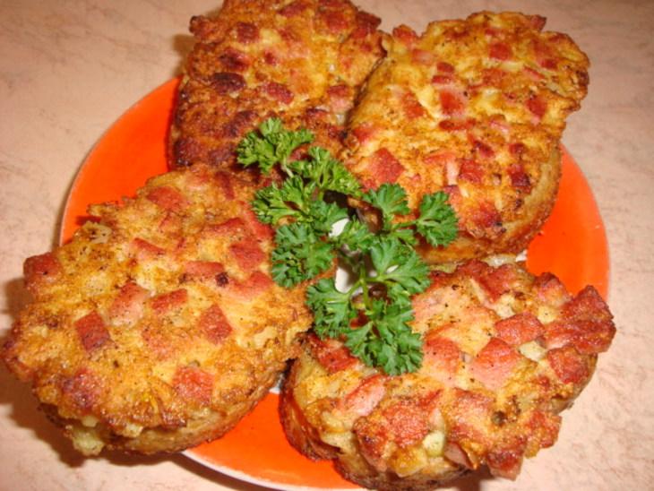 Пицца с батона на сковороде рецепт
