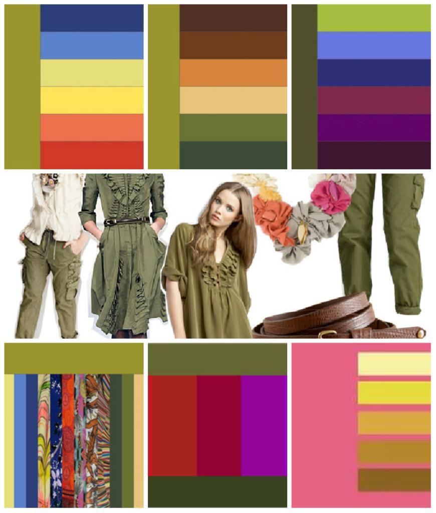 какие цвета смешиваются с цветом хаки