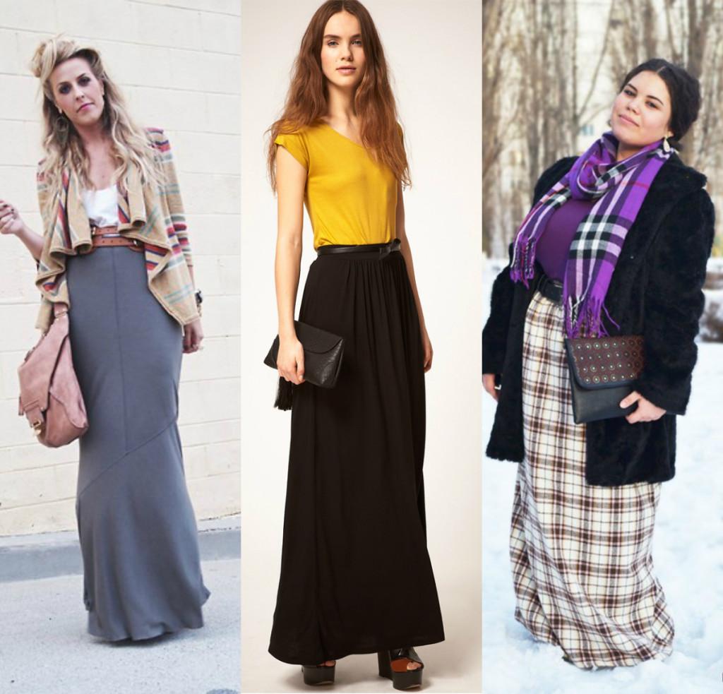 С чем носить длинную юбку: самые стильные образы