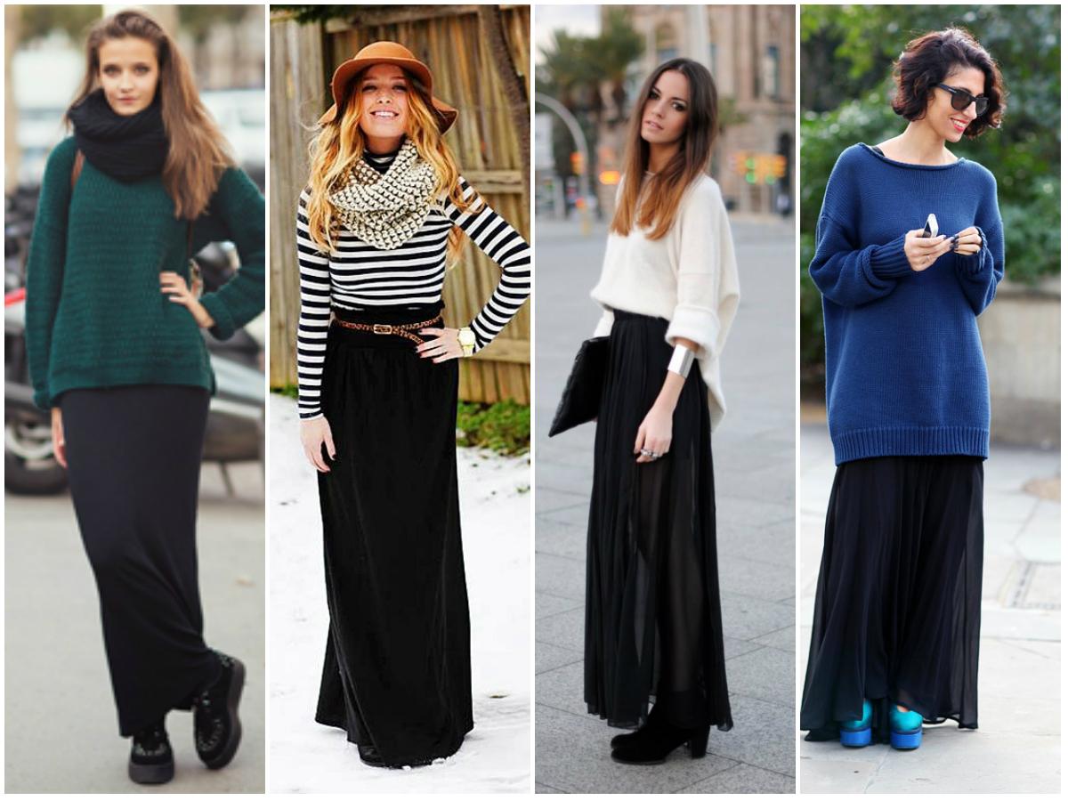 Длинная юбка look