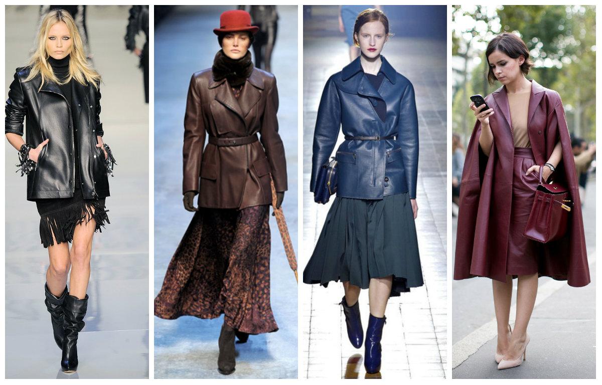 Что одевать с кожаным плащом