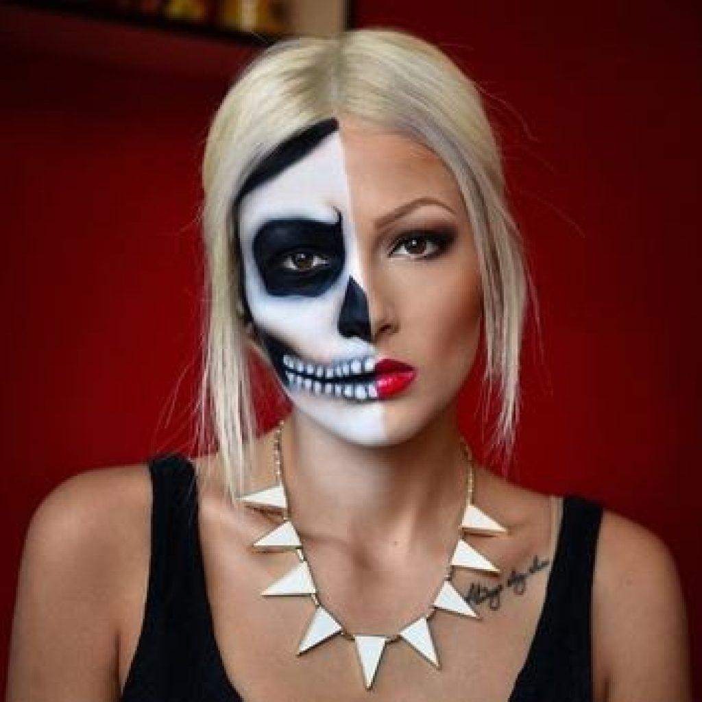 Макияж скелета девушки фото