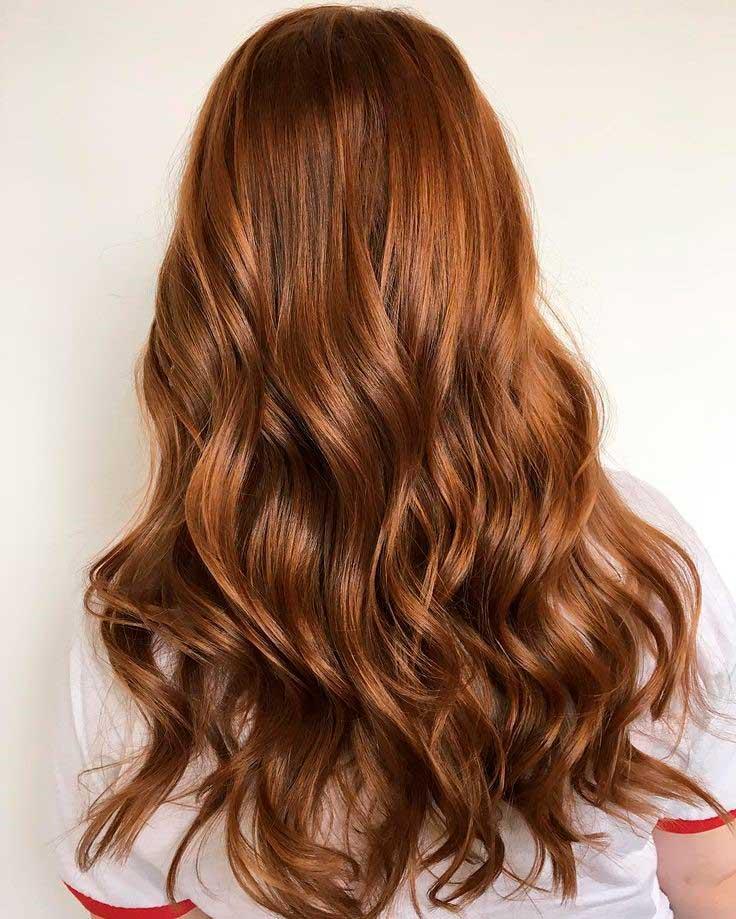 Фото золотисто-каштановых волос