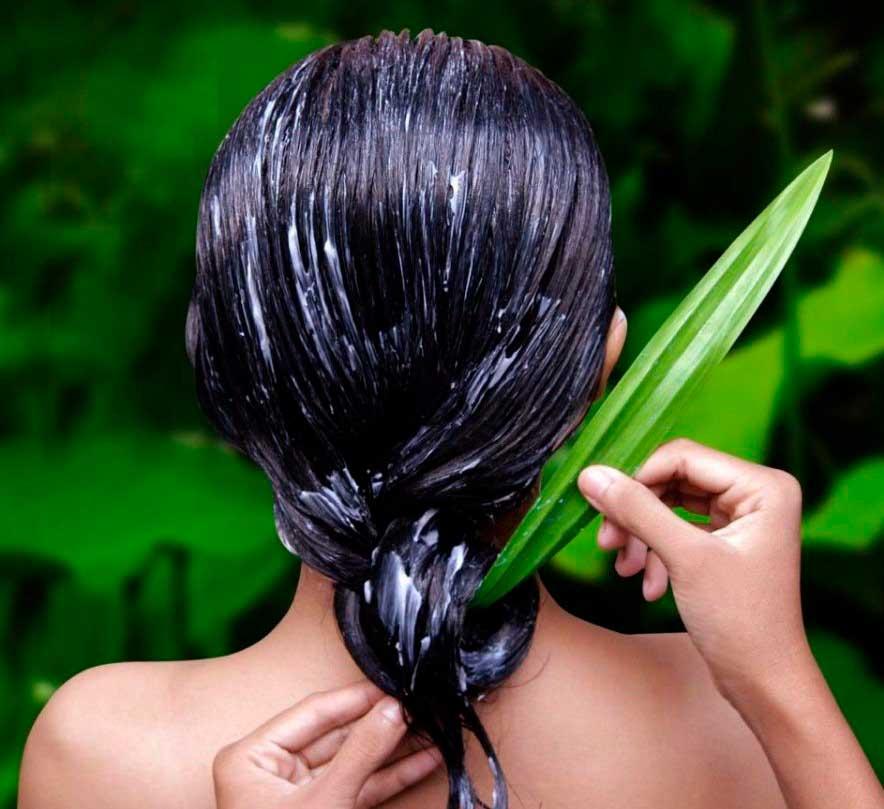Маска укрепляющая из голубой глины для волос
