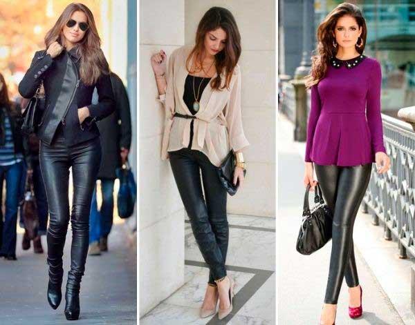 С чем носить брюки из кожи