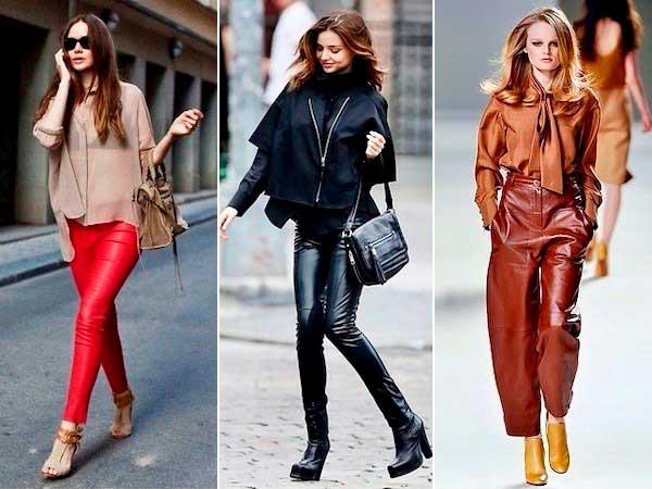 С чем носить брюки кожаные осенью