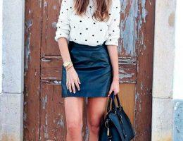 С чем можно носить кожаную юбку